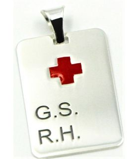 Custom Silver Medical Tag Pendant