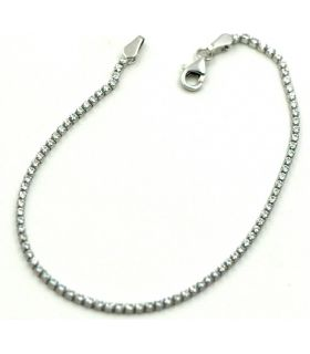 White Gold Tennis Bracelet with Zirconias