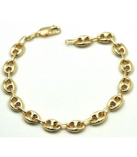Yellow Gold Calabrote Chain Bracelet