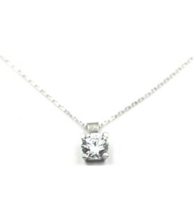 Small Zirconia 18K White Gold Necklace