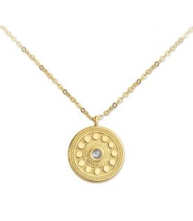 Coin Necklace Gold Plated Silver