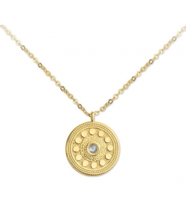 Coin Necklace in Gold Plated Silver