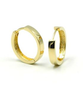 Small Yellow 18K Gold Wide Hoop Earrings