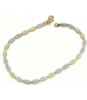 Bi Colour Gold Chain Link Bracelet