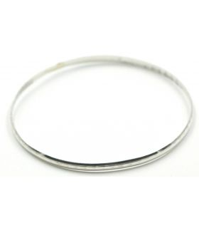 Silver Half Round Bangle 4mm & 70d