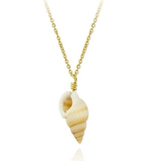 Sea Snail Gold Plated Silver Necklace