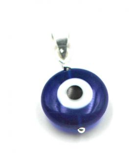 Crystal Turkish Evil Eye Silver Pendant