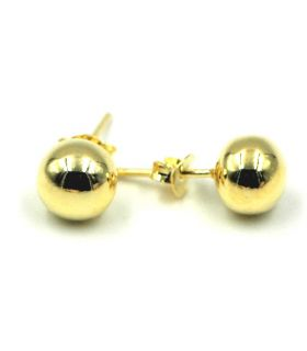 Gold Plated Silver 8mm Ball Stud Earrings