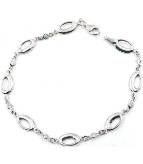 Oval Links White Gold Bracelet