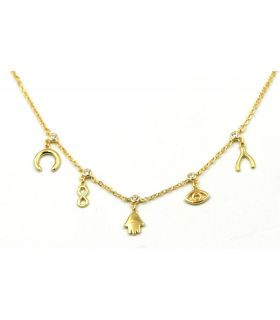 Good Fortune Necklace Gold Plated Silver