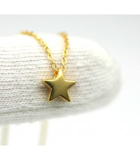 Mini Star Necklace Gold Plated Silver