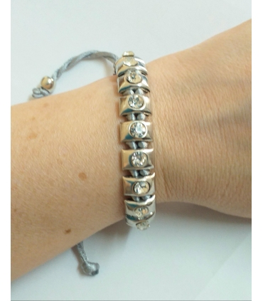 Braided grey cord bracelet