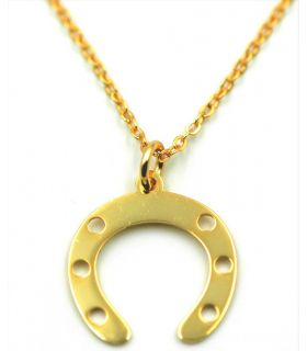 Horseshoe Necklace Gold Plated Silver