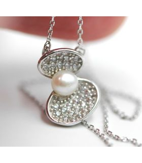 Silver Oyster Natural Pearl Pendant