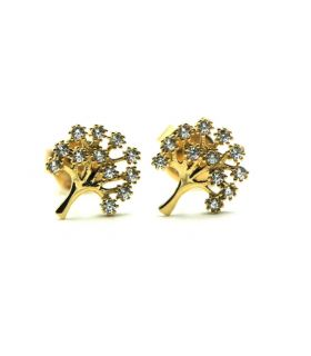 Small Tree Of Life Stud Earrings Gold