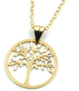 Tree of Life 18K Gold Necklace