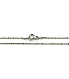 Small Balls Silver Chain Necklace