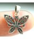 Butterfly pendant necklace in Silver