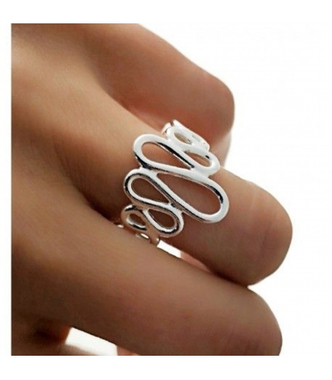 Squiggly Silver Ring