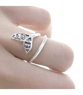 Whale Tail Silver Ring