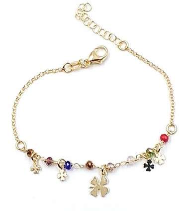 Clover Bracelet in Gold Plated Silver