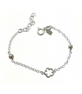 Silver Girl Bracelet with Pearls