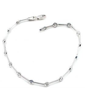 White Gold Bracelet with Zircons