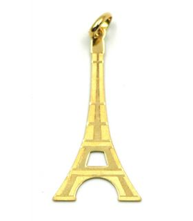 18K Gold Eiffel Tower Pendant