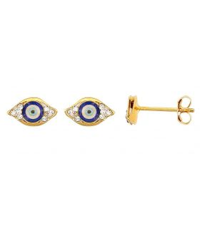 Gold Evil Eye Small Stud Earrings
