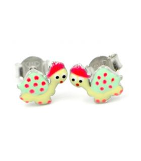 Turtle Stud Silver Earrings for Girls