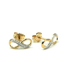 Small Infinity Knot 18K Gold Stud Earrings