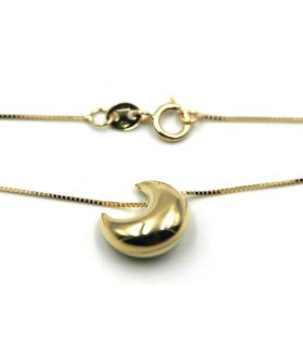 Crescent Moon Necklace 18k Gold