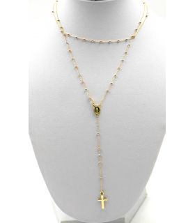 Rosary Necklace in Three Colours 18K Gold
