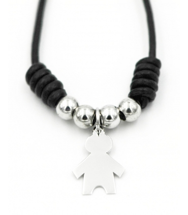 Baby Boy Silver Custom Choker Necklace