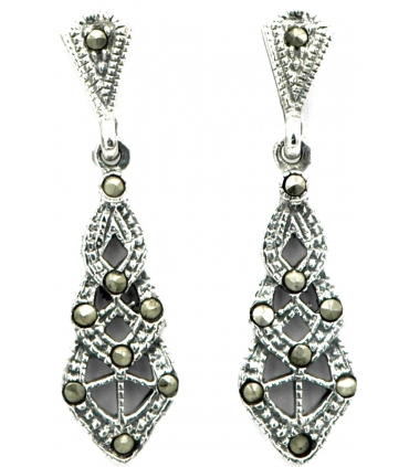 Silver and marcasites earrings