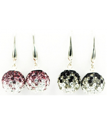 Silver Earrings with Swarovski Crystal Ball