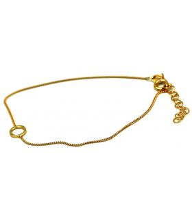Karma Circle Silver bracelet in Gold plated finish