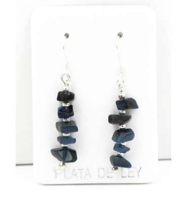 Natural stones with Silver earrings