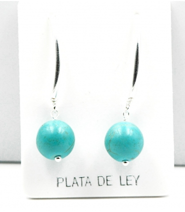 Silver earrings with Turquoise Howlite