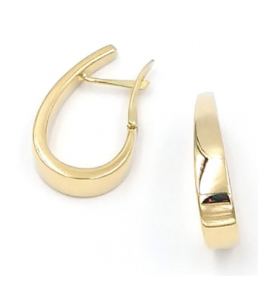 Horseshoe Gold Hoop Earrings