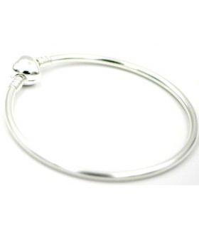 Silver bracelet for charms
