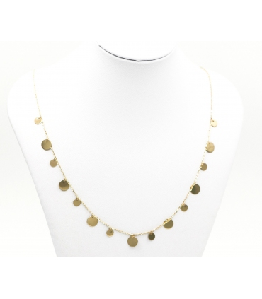 Yellow Gold Multi Disc Necklace