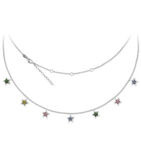 Dangling Stars Silver Necklace