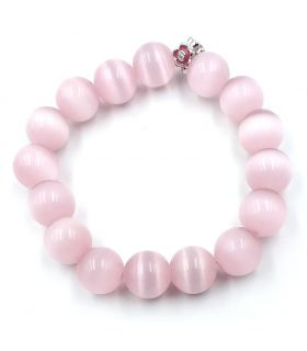 Cats Eye Bracelet in Pink