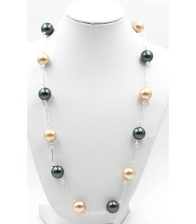 Cultured pearls and Silver necklace
