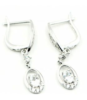White Gold Earrings with Zirconias