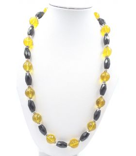 Onyx and Citrine Necklace