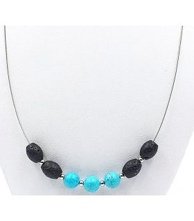 Larva and Turquoise Necklace