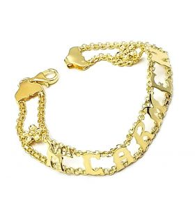 Name Bracelet Gold Plated Silver