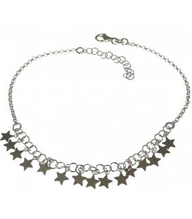 Silver Anklet with Stars